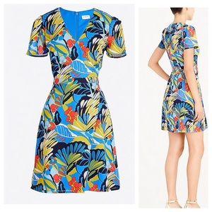 J.Crew Print wrap-front Mini Dress